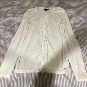 Women's TOMMY HILFIGER white/cream cardigan size S